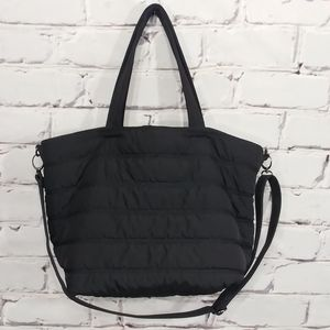 NWOT dl +active Black Puffer Gym Overnight Tote